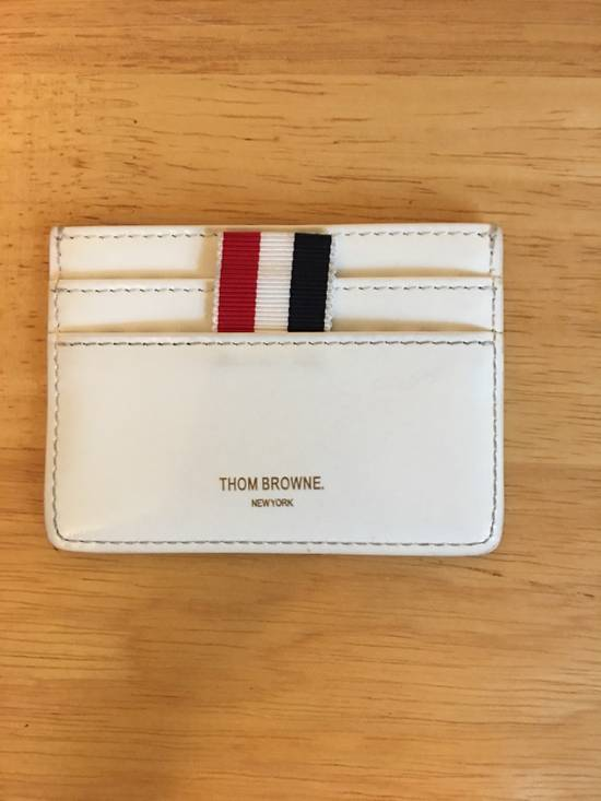Thom Browne Stripe Card Holder Size ONE SIZE