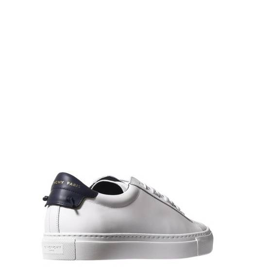 Givenchy LOW SNEAKERS IN LEATHER with navy blue leather inset and knots on the back Size US 11 / EU 44 - 3