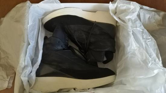 Julius 2016AW Coated Leather Chunky Sole Sneakers Black Size US 11 / EU 44 - 9