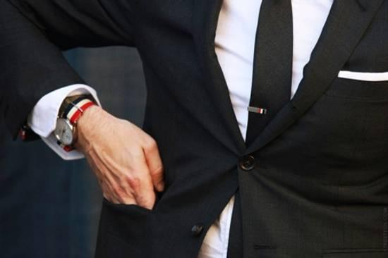 Thom Browne Thom Browne Classic RWB Silver Short Tie Bar Size ONE SIZE - 3