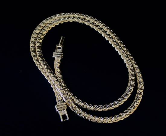 Givenchy Gold Plated Flat Braided Necklace Size ONE SIZE