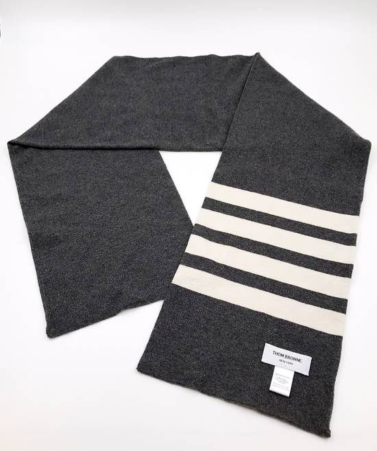 Thom Browne THOM BROWNE CLASSIC CASHMERE MID GREY SCARF Size ONE SIZE