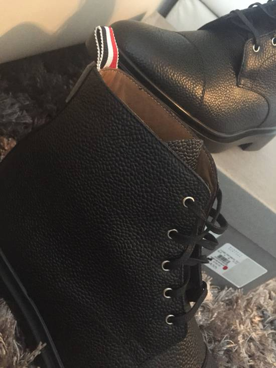 Thom Browne New $790 Pebbled Leather Boots Size US 8 / EU 41 - 12