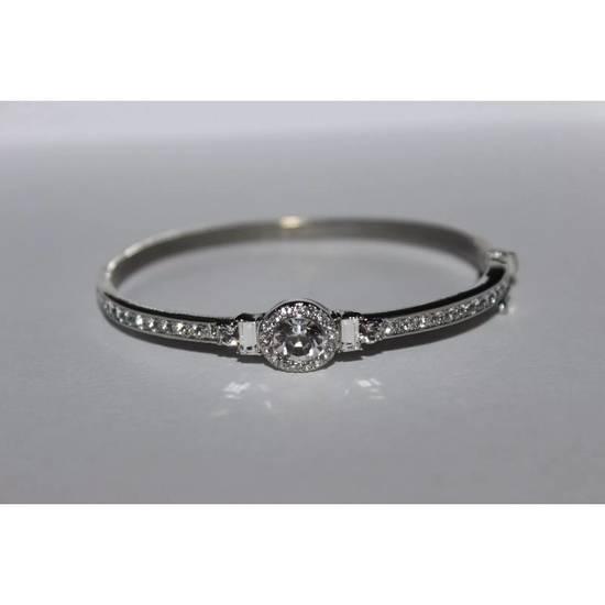 Givenchy Iced Out Silver Bangle Bracelet Size ONE SIZE
