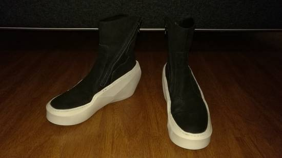 Julius HI Top Goat Nubuck Coated Polygon Platform Sneakers Size US 11 / EU 44