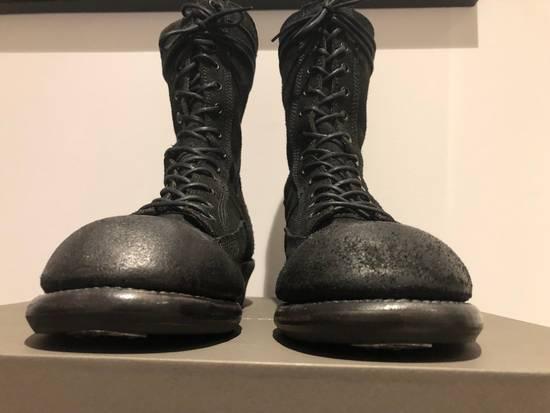 Julius Blistered Leather Back Zip Combat Boots Size US 11 / EU 44 - 12