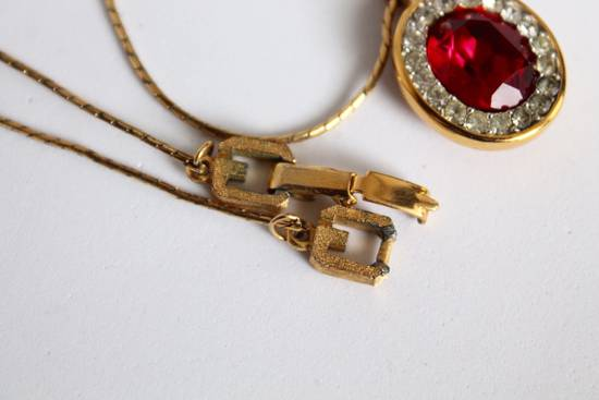 Givenchy Gold Plated Red Crystal Necklace Size ONE SIZE - 1