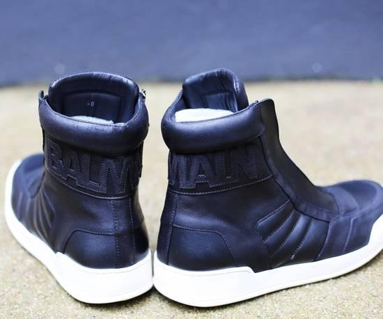 Balmain Black Leather Sneakers Size Us10 Eu43 Size US 10 / EU 43 - 2