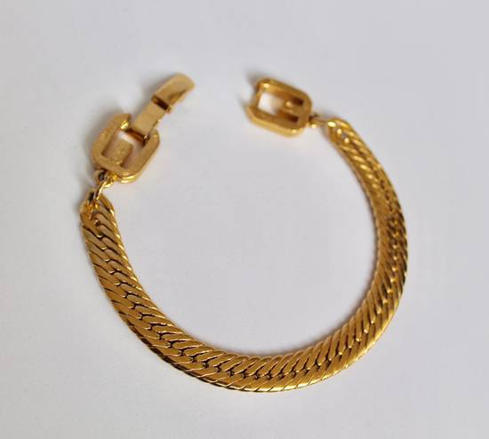 Givenchy Gold Plated Herringbone Bracelet Size ONE SIZE - 1