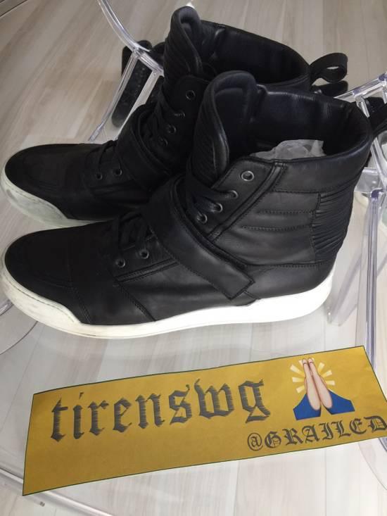 Balmain Balmain High Top Leather Sneakers Size US 11 / EU 44