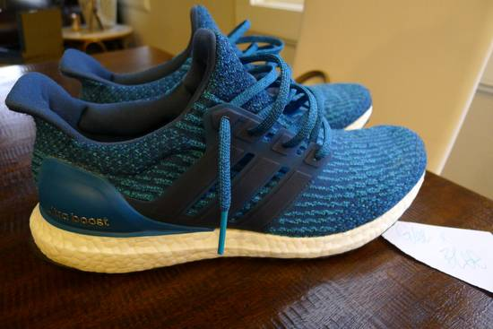 sports shoes ed498 cfea7 SAMPLE Adidas Ultra Boost Petrol Night blue sz 9 rare nmd