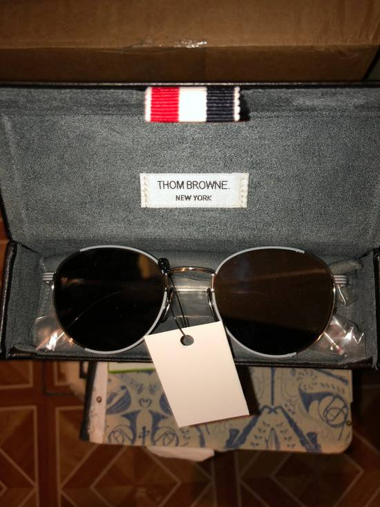 Thom Browne Thom Browne Round-Frame Silver Tone Sunglasses made in japan blue lenses 100 UV Tb-106-B Size ONE SIZE