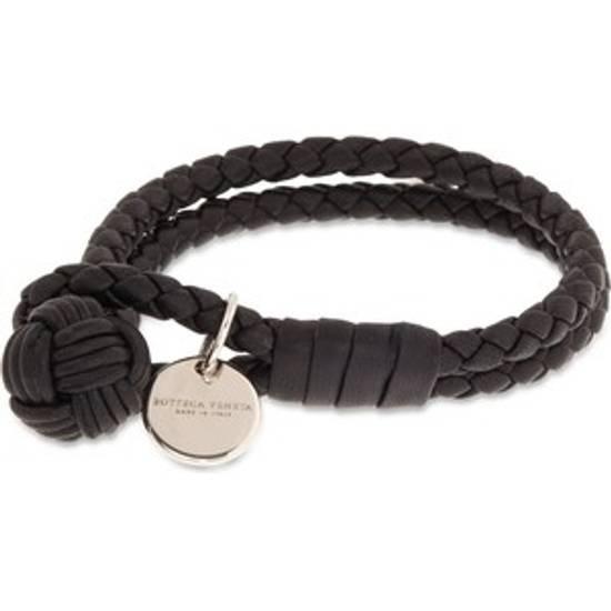 Bottega Veneta Black Leather Bracelet Size Small One