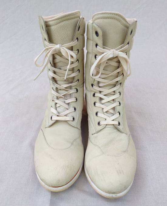 Julius Backzip White Pigskin Boxing Boots Size US 9 / EU 42 - 1