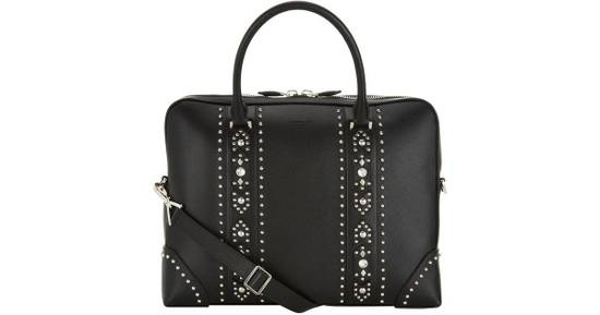 Givenchy Givenchy Men Leather Studded Black Briefcase Bag Brand New With Tags Size ONE SIZE