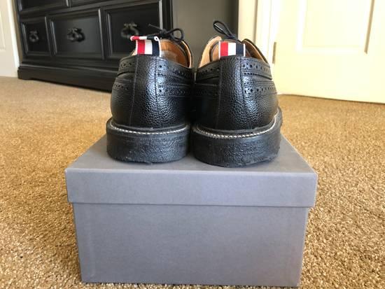 Thom Browne Men's Black Pebble Wingtip Brogue Shoe Size US 12 / EU 45 - 1