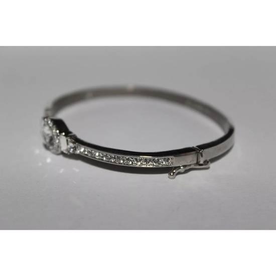 Givenchy Iced Out Silver Bangle Bracelet Size ONE SIZE - 2