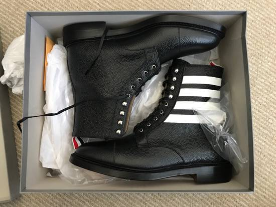 Thom Browne Winter Sale!! Further Markdown!! $1190 Thom Browne Mens Grainy Finish Lace Up Boots Size US 8 / EU 41