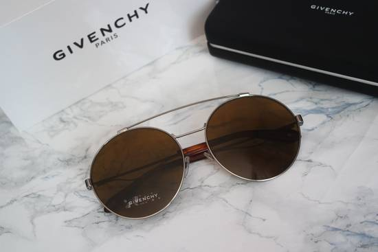 Givenchy NEW Givenchy 7048/S Oversized Round Aviator Sunglasses in Pale Gold/Brown Size ONE SIZE - 1