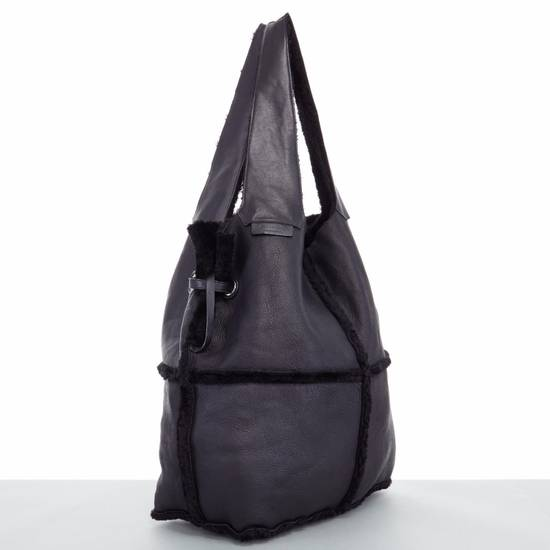 Givenchy GIVENCHY TISCI black reversible leather shearling fur oversize hobo shoulder bag Size ONE SIZE - 5