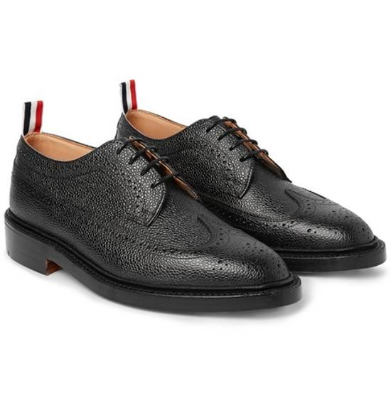 Thom Browne LAST DROP Thom Browne Pebble-Grain Leather Longwing Brogues Size US 11 / EU 44