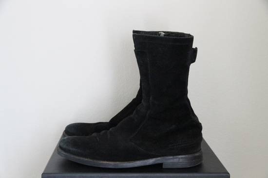 Dior RARE AW04 Dior Homme 'VOTC' Hedi Slimane Black Suede Leather Boots 42 / 9 Size US 9 / EU 42 - 8