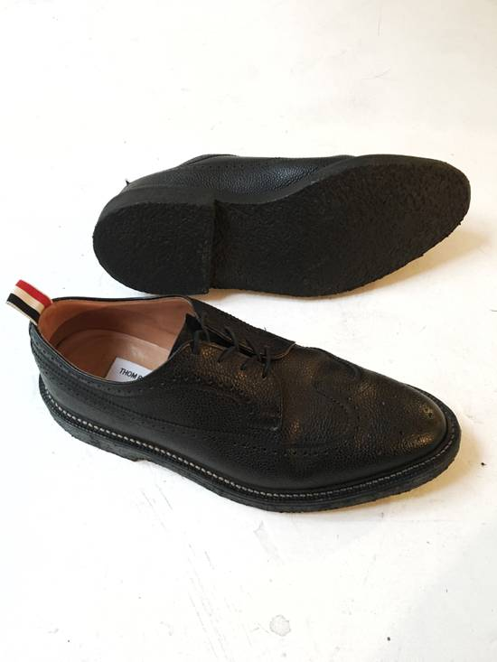 Thom Browne THOM BROWNE CLASSIC BROGUES WITH GUM SOLE IN BLACK PEBBLE GRAIN SIZE US11 Size US 11 / EU 44 - 4