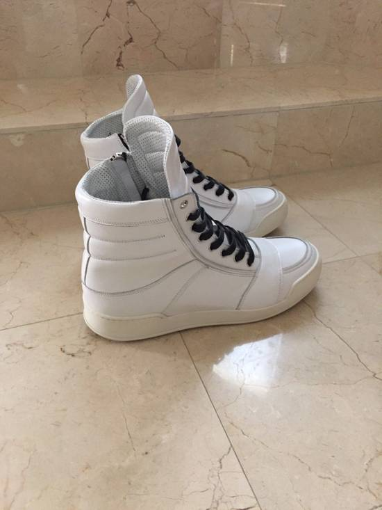Balmain BALMAIN White Leather High Top Sneakers 100% Authentic Size 45 US 12 Size US 12 / EU 45 - 6