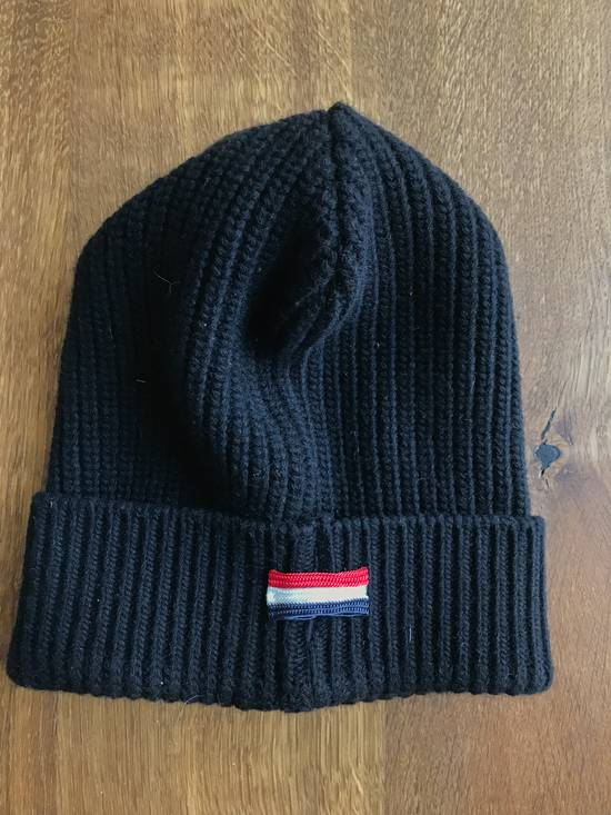 Thom Browne Moncler Gamme Bleu Black ribbed hat by Thom Browne Size 30 - 1