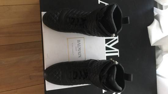 Balmain Quilted Leather Sneaker Size US 9 / EU 42 - 3