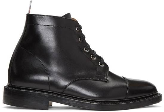 Thom Browne Black Cropped Derby Boot Size US 10.5 / EU 43-44