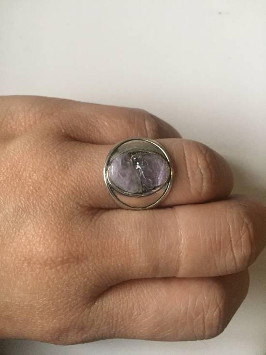 Handmade Amethyst Stone Tibetan Silver ring - Size 7.25 Size ONE SIZE - 2