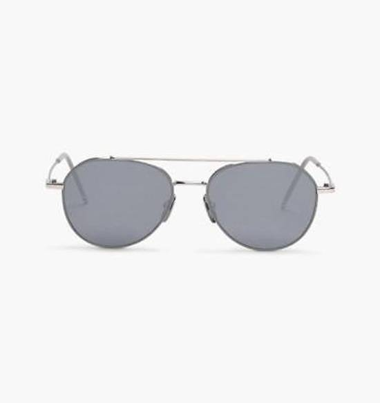 Thom Browne THOM BROWNE TB 105 Sunglasses Silver Grey Mirror New Retails $895 Size ONE SIZE - 3