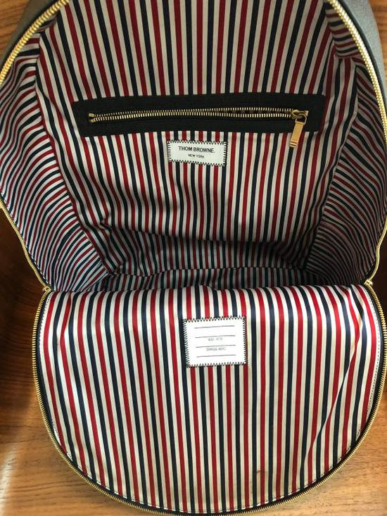 Thom Browne Black Pebble Leather Backpack Size ONE SIZE - 1