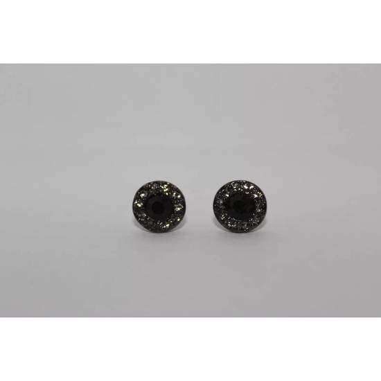 Givenchy Black Crystal Stud Earrings Size ONE SIZE
