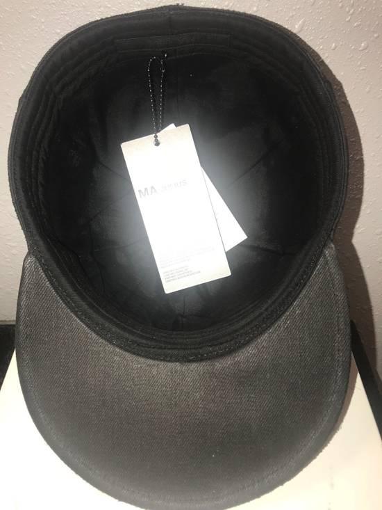 Julius MA_ JULIUS ULTRA RARE BLACK COATED LAMB SKIN LEATHER BASEBALL CAP HAT Size ONE SIZE - 7