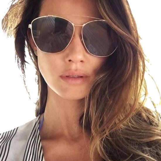Givenchy NEW Givenchy Oversized Silver Aviator Sunglasses Size ONE SIZE - 1