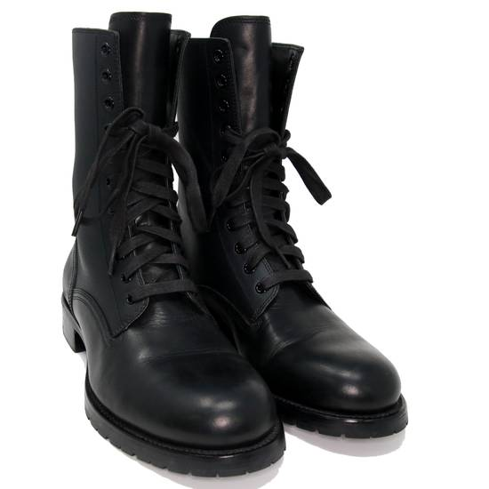 Balmain Balmain Black Classic Pierre Men's Leather Panelled High Combat Boots Booties Size US 9 / EU 42 - 3