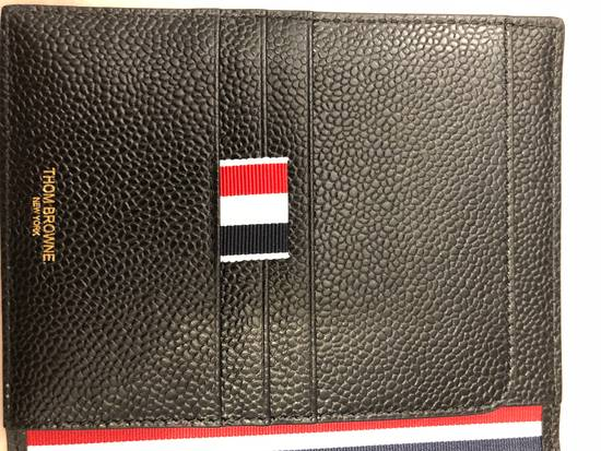 Thom Browne pebble grain leather passport holder Size ONE SIZE - 5