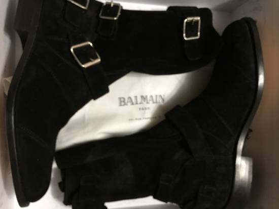 Balmain Black Suede Boots Size US 9 / EU 42 - 5