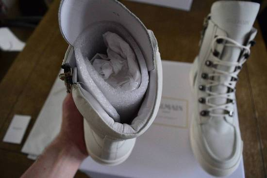 Balmain Balmain Authentic $1150 Leather White High Top Sneakers Size 11 Brand New Size US 11 / EU 44 - 4