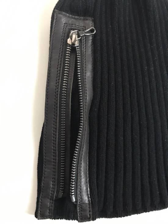 Julius Black Zipped Beanie Size ONE SIZE - 2