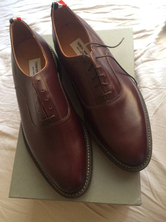 Thom Browne burgundy LEATHER OXFORD SHOES Size US 12 / EU 45 - 4