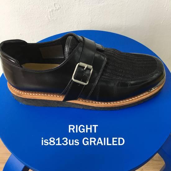 Balmain BALMAIN Black Leather Buckled Steel Capped Shoes Size US 9 / EU 42 - 2