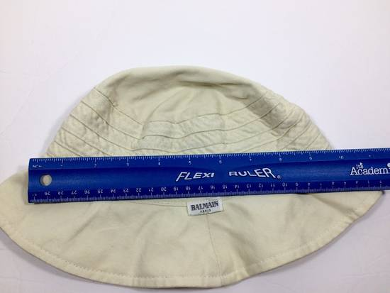 Balmain Cream White Bucket Safari Hat Likely Children's Size ONE SIZE - 10