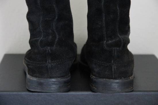 Dior RARE AW04 Dior Homme 'VOTC' Hedi Slimane Black Suede Leather Boots 42 / 9 Size US 9 / EU 42 - 7
