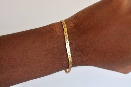 Givenchy Gold Plated Herringbone & Rope Link Bracelets (2) Size ONE SIZE - 5