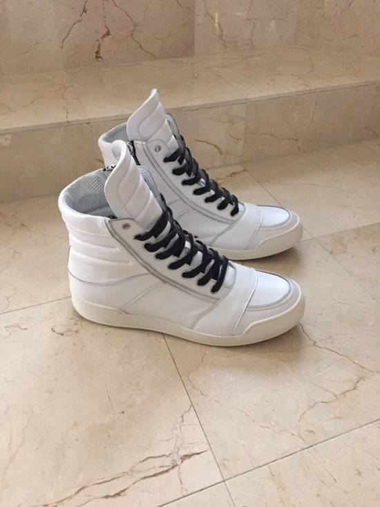 Balmain BALMAIN White Leather High Top Sneakers 100% Authentic Size 45 US 12 Size US 12 / EU 45 - 5