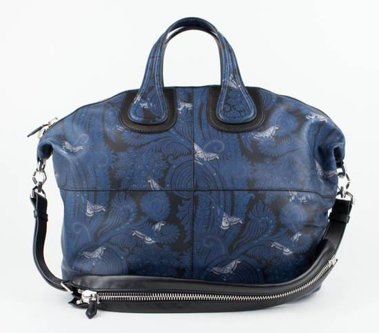 Givenchy Men's Blue/Black Leather Nightingale Paisley Carry On Bag Size ONE SIZE - 1