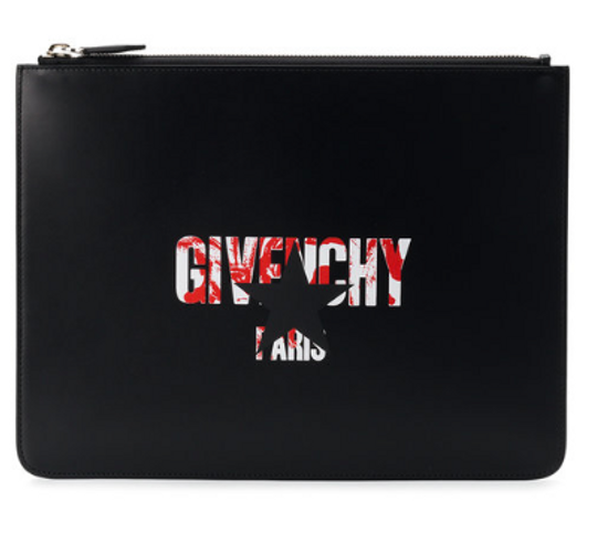 Givenchy Givenchy STAR LOGO print zipped pouch ***sick graphic*** Size ONE SIZE